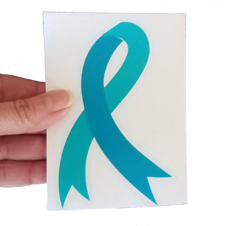 teal-ovarian-cancer-awareness-ribbon-decal-carousel