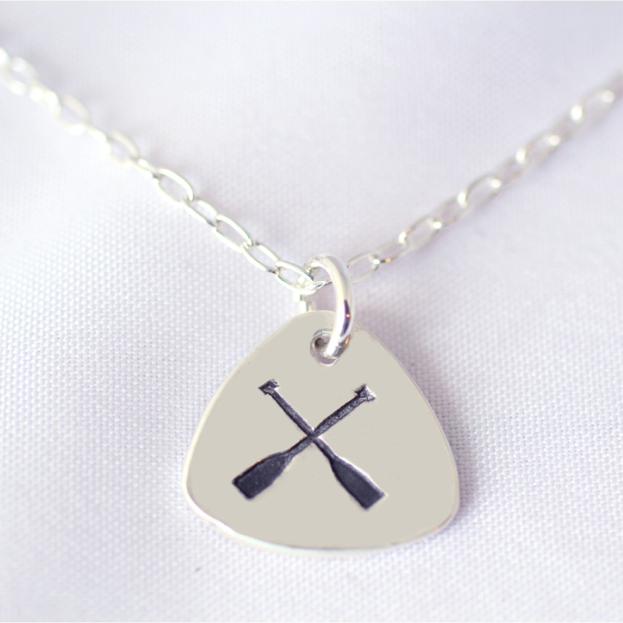 triangle dragon boat paddles necklace 2